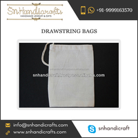 Organic Cotton Muslin Drawstring Favor Bags