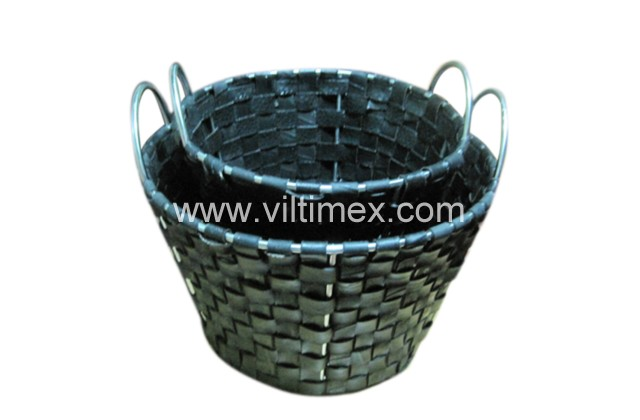Car Tire Woven Baskets with hand