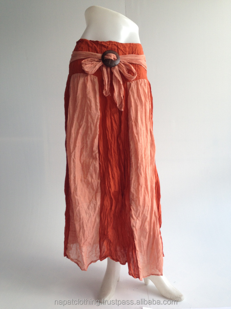 Switch Color Saloo Gypsy boho Skirt with Coconut Belt