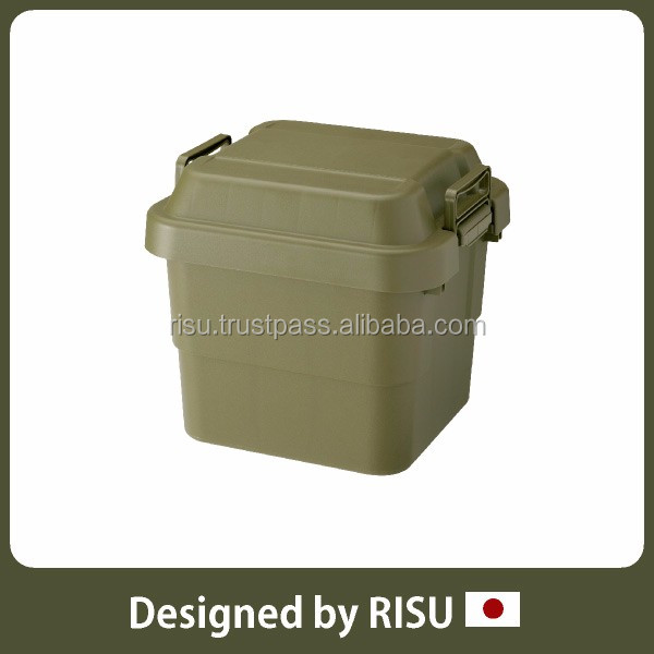 High-capacity and Durable bathroom storage storage container with lid with handles