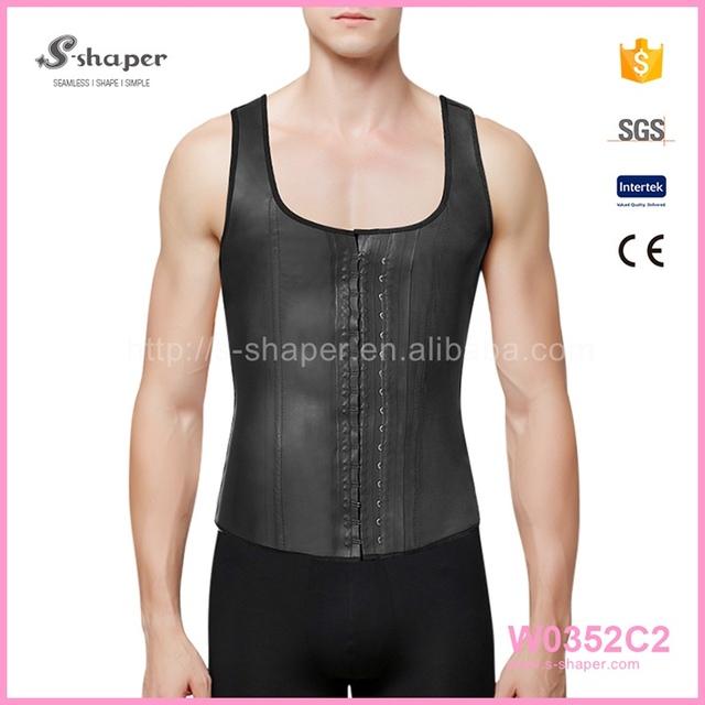 Men Unisex Trainning Belt Black Shaper Hot Slimming Vest Neoprene Body Shaper W0352C2