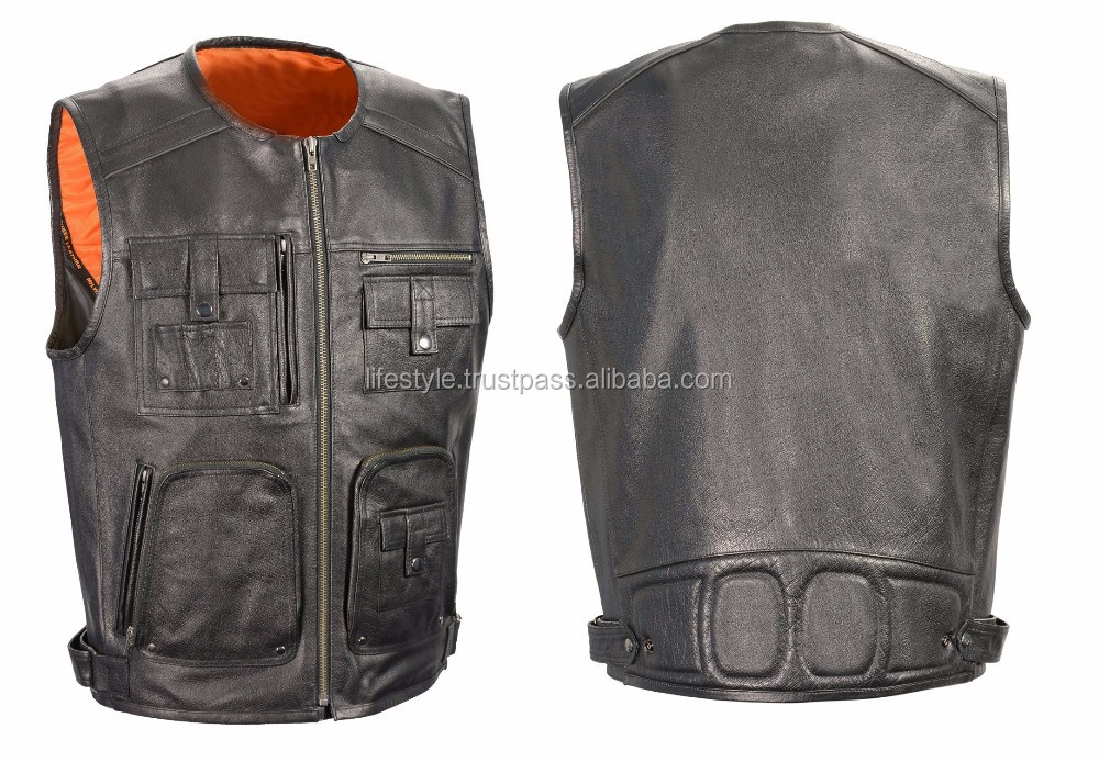 motorcycle leather vest leather shooting vest custom leather vests costume leather vest men leather biker vest