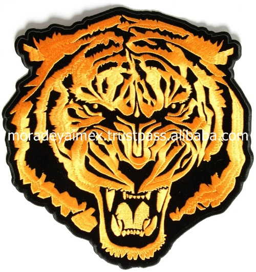 Tiger Motorbike Faction Jacket Embroidery Patches 3D Shocking Color Attractive Design Embroidery Patches