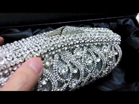 2016 Women Silver Clutch Bag High Quality Handmade Crystal Evening Clutch Bag for Brides