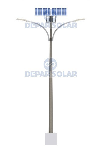 120W Solar Led Street/Road Light 12m pole IMO Series double arm
