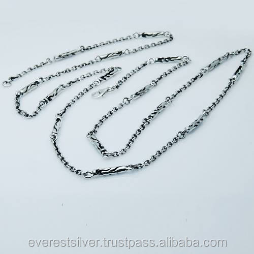 Factory price cool Necklace silver 925 chain hot item handmade