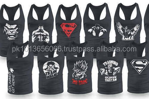 wholesale plain tank tops & blank gym mens stringer singlet