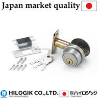 Stainless steel Single Cylinder Tubular door deadbolt locks BS60mm PD-100 3keys made in Japan