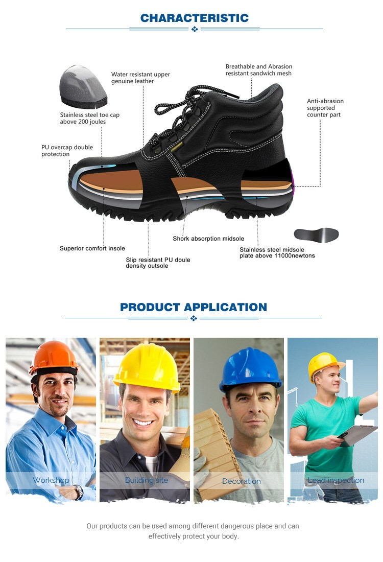 Hot selling white steel toe anti static safety shoes for wholesale