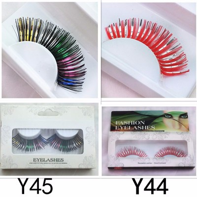 Two tone color eyelash false eyelash party eyelashes