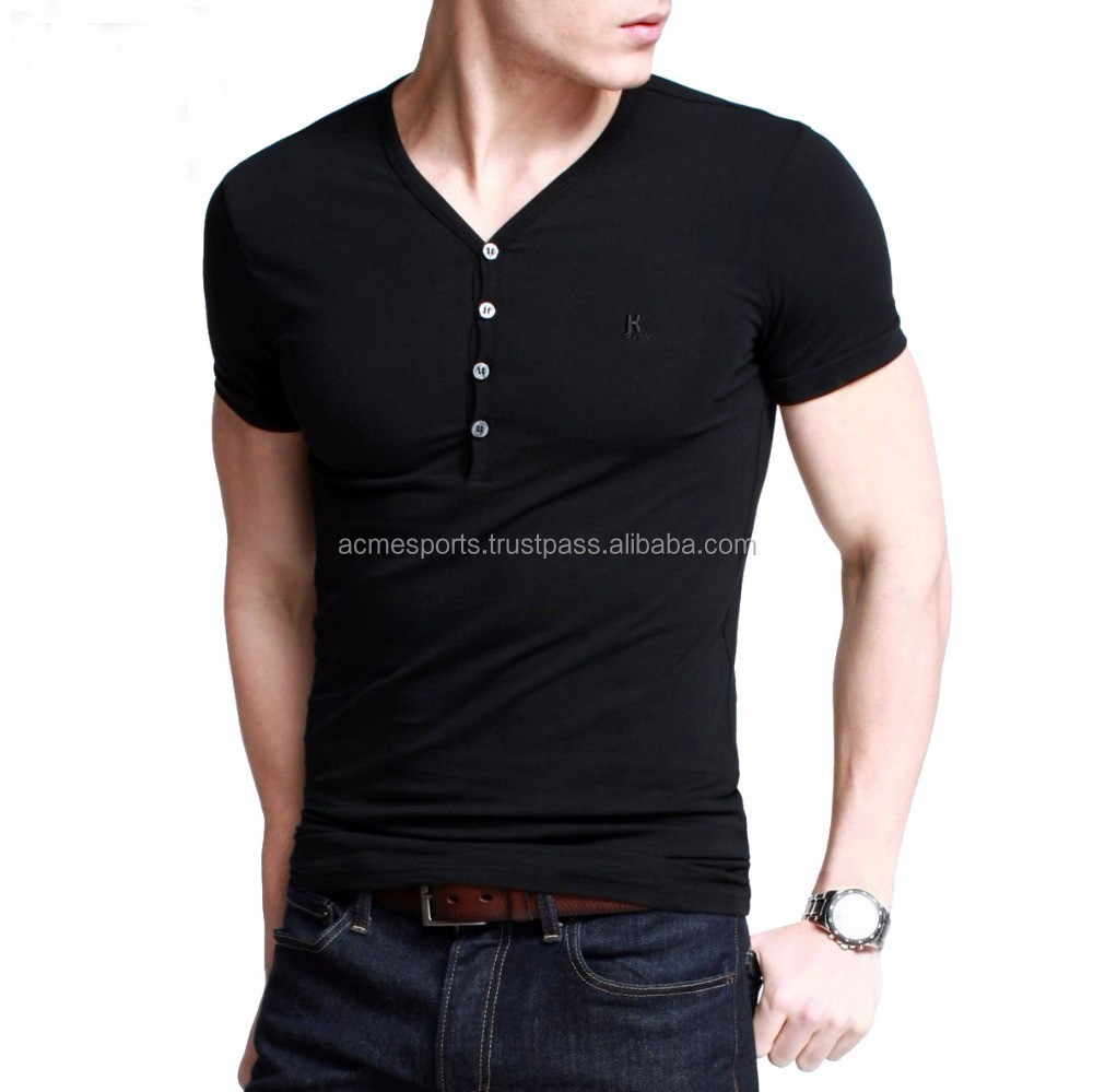 Black t shirt v shape - V Neck T Shirts Mens Plain T Shirts Basic Tee Shirt V Shaped Neck