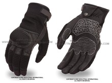 Leather/Mesh Sports Glove Featuring Carbon Fiber Knuckles Under Mesh for Extra Protection