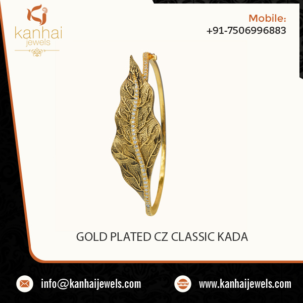 Reliable Manufacturer Selling Gold Plated CZ Classic Kada