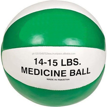 Medicine Ball/Weight Ball Fitness & For Exercise Purpose (White & Green Color)