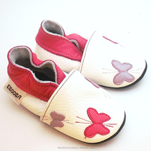soft sole baby shoes Leather chaussons Krabbelschuhe Butterflies white 2 3 y ebooba