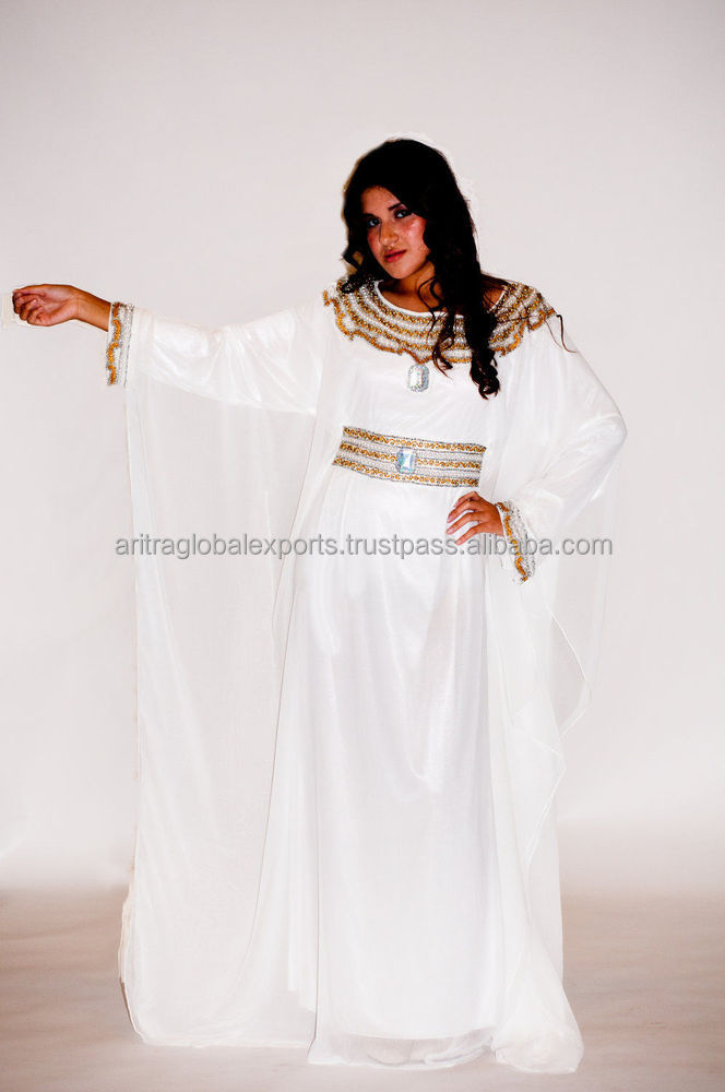 Dubai Farasha Moroccan Kaftan Dress Abaya Jilbab Islamic Arabian clothing