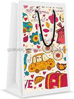 Top Fancy High Top demand cartoon printed design paper bag paris PACK /Best Recycle use cotton made paper bag