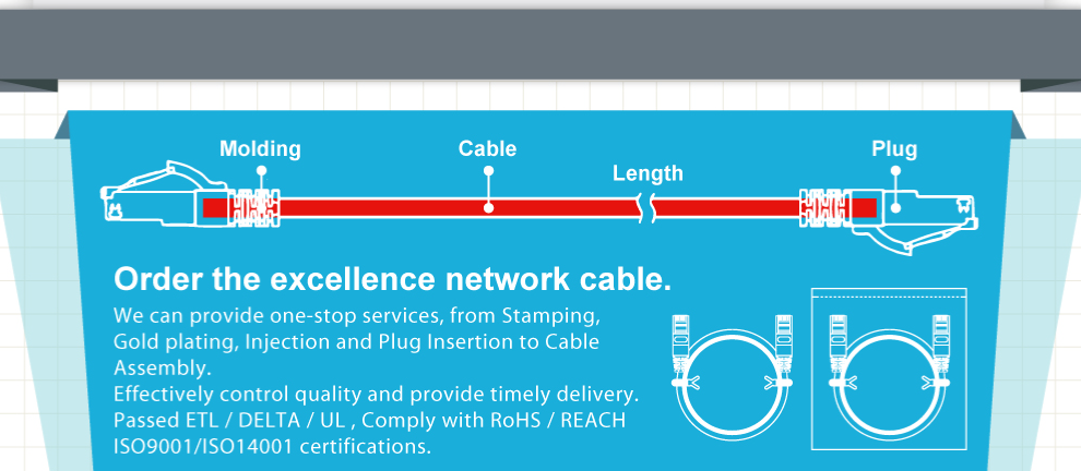 EXCELLENCE WIRE INDUSTRIAL CO., LTD. - C6A PATCH CORD,PATCH CORD