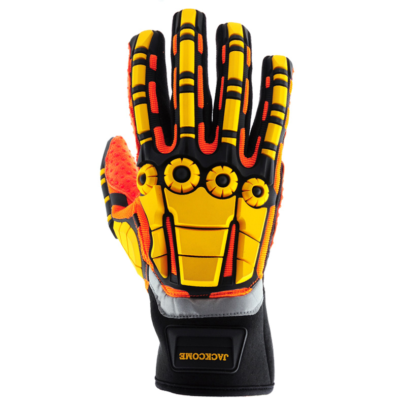 Kong Slip and Oil Resistant Impact Gloves -TPR gloves Black/Orange Ipwsdx05xl