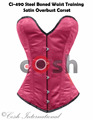 Overbust Burgandy Polyester Satin Steel Boned Waist Training Corsets Supplier And Manufacturer From Cosh International Pakistan