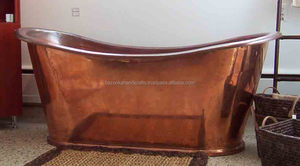 Shiny Polished Copper Bathroom Tub, Large Copper Bath Tub