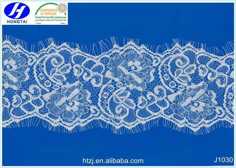 from hongtai Stretchy And Soft Chantilly African Eyelash Cheap Trim Lace Fabrics Wholesale
