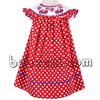 Smocked dresses for Independence Day, car smocked bishop dress