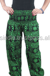 New Style trousers New Pattern Pantaloon Straight trousers Om Printed trousers