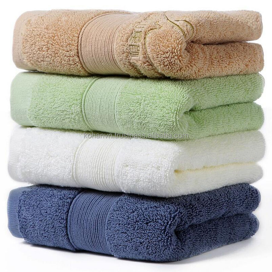 Vietnam supplier 100% cotton bath towel set