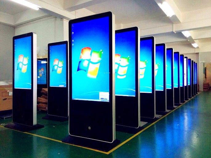 55-Inch-High-Brightness-Floor-Stand-LCD-Digital-Signage-PC