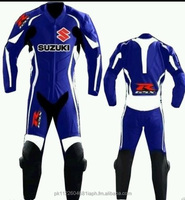 New Suzuki Model 2015 Motor Bike/ Motor Cycle Leather Suit with Full protection