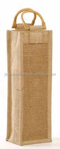 2016 New TOP Eco-friendly wholesale plain jute wine tote bag