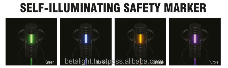 Self-luminous safety marker