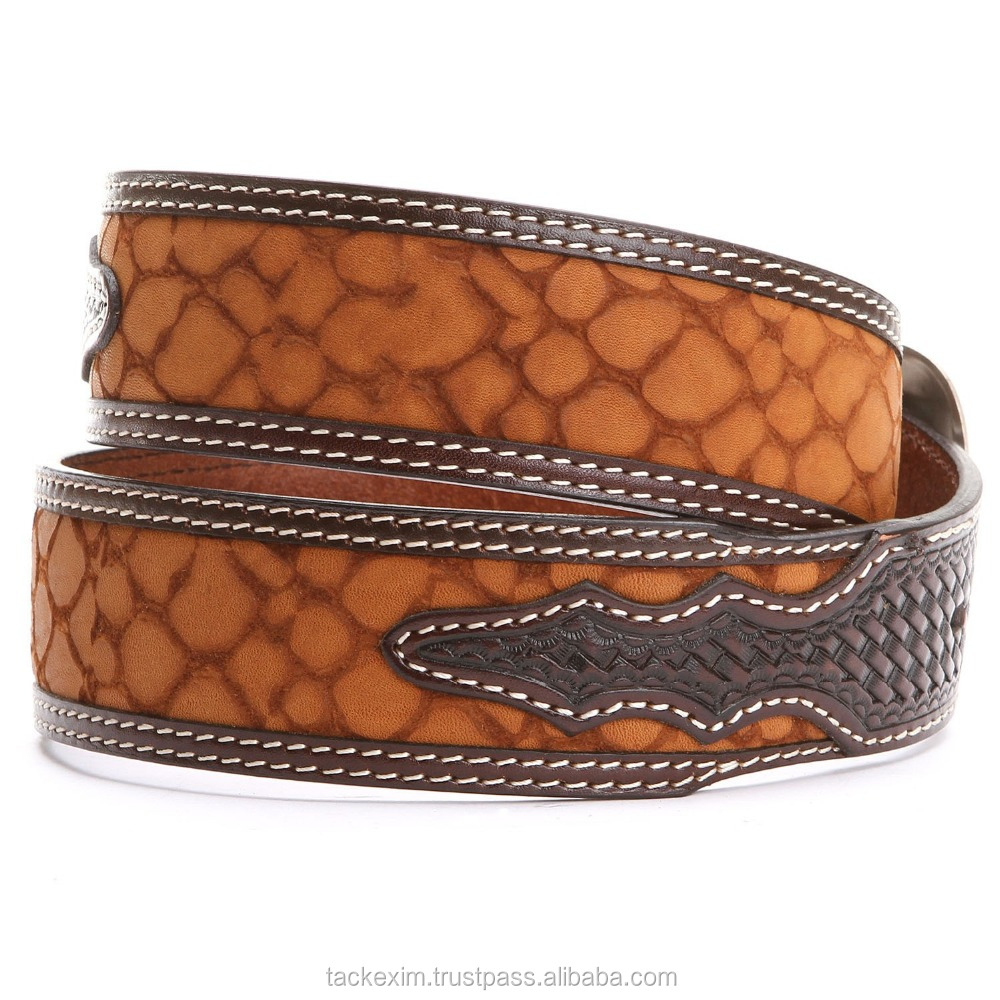 HIGH QUALITY WITH PRINTED DESIGN LEATHER BELT