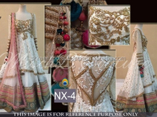 Vibrant White Net Designer Lehenga Choli/Online shopping for Indian lengha choli