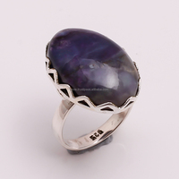 925 Solid Sterling Silver Gemstone Ring