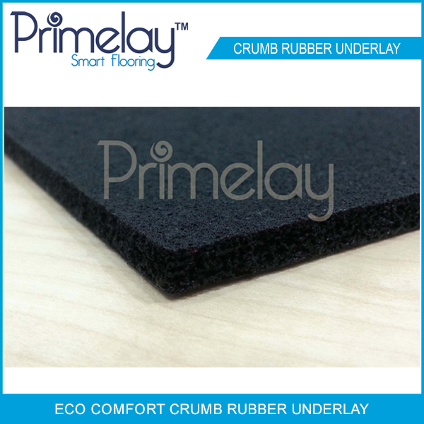 Flat rubber underlay is best for stairs