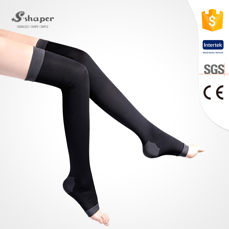 S-SHAPER Private Label Compression Overnight Leg Thigh Legging Socks With Open Toe
