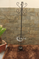 Metallic Four Hook Garden Vase Hanger Stand
