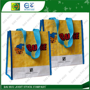 PP woven packaging bags with BOPP