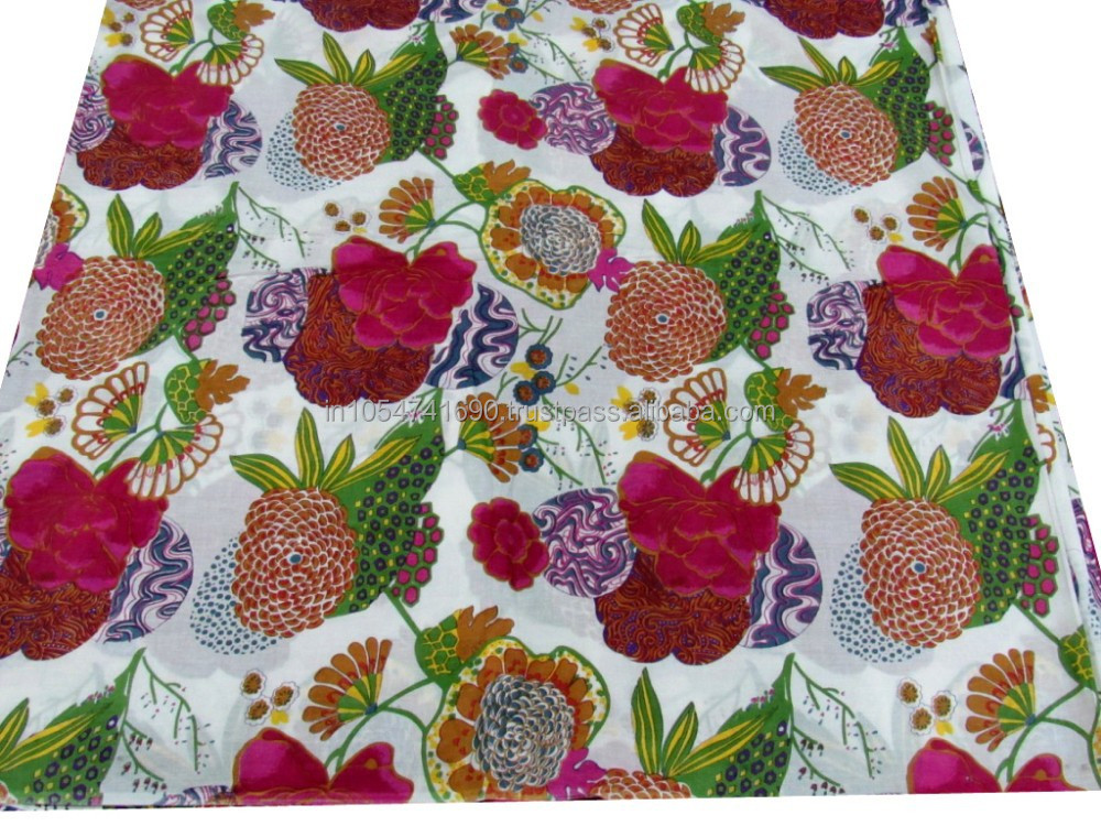 Hand made Fruit Printed Fabric 100% Cotton Printed Fabric Running Fabric Manufacturer & Wholesaler