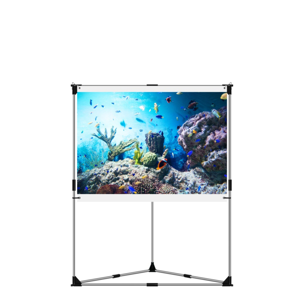 "JaeilPLM 60"" Inch Portable Outdoor Projection Screen + Setup Stand + Transportable Bag Full Set Kit"