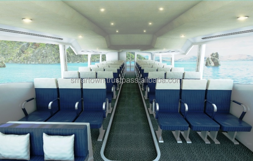High Speed Luxury Water Bus with 48 seats capacity model WAVESHUTTLE 56