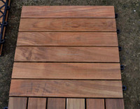 jepara indonesia furniture, teak garden, teak outdoor, Teak garden tile with plastic base