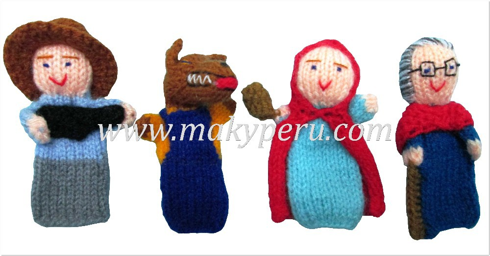 LITTLE RED RIDING HOOD - FINGER PUPPETS / SET