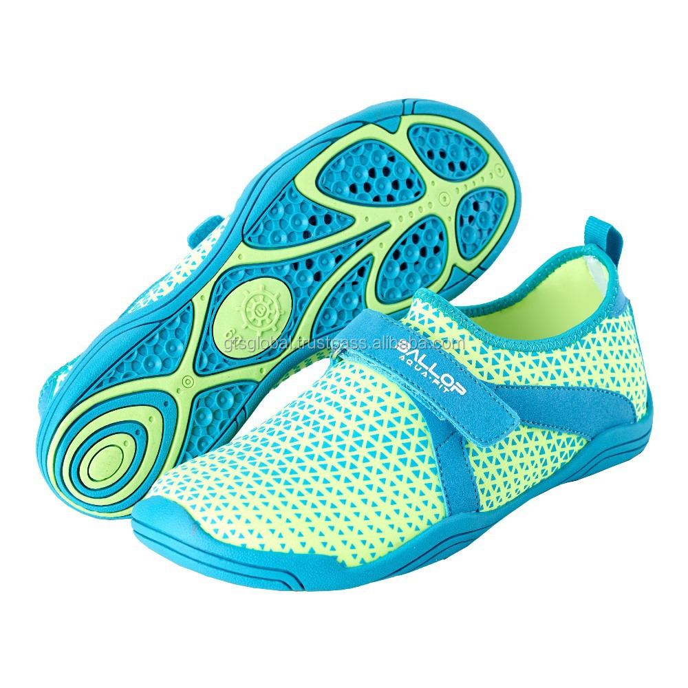Aqua shoes, Water shoes, Swimming shoes, Water sports shoes, Fitness, Gym, Yoga, treadmill shoes---BALLOP TRY GREEN-