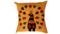 TRADITIONAL HAND EMBROIDERY APPLIQUE PATCH WORK HANDMADE CUSHION COVER
