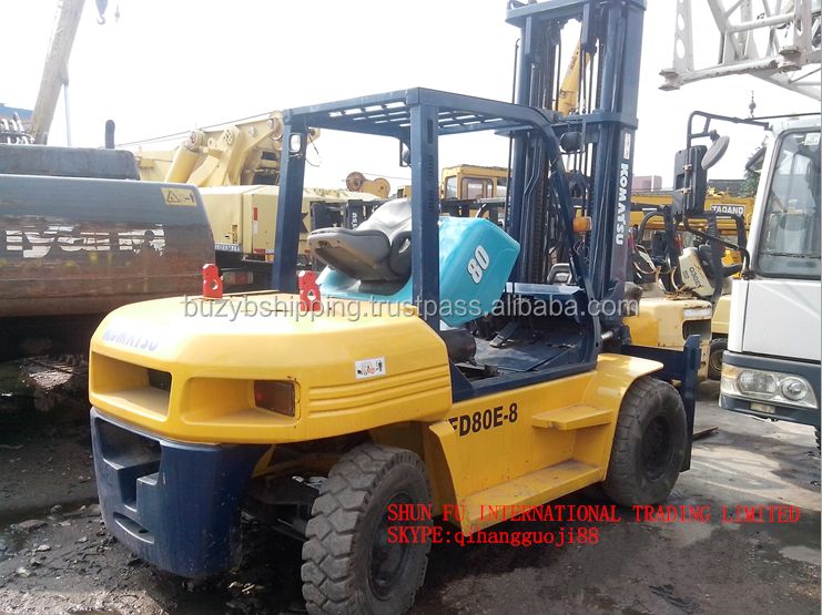 Old/Secondhand 8ton forklift, 8ton lift truck, used 8ton 10ton 5ton 3ton komatsu forklift for sale!