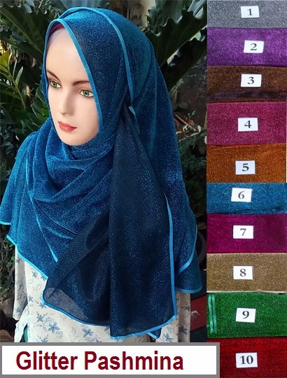 Beautiful Glitter Pashmina - ready wear hijab