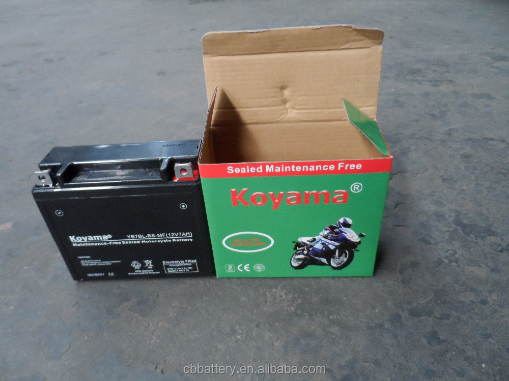 Good Chinese Supplier 12 Volt Battery YB7BL-BS Rechargeable sealed motorcycle battery